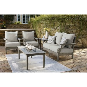 Outdoor Loveseat, 2 Chairs, and Table Set