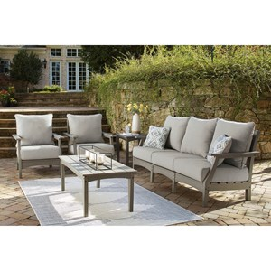 Outdoor Sofa, 2 Chairs, and Table Set