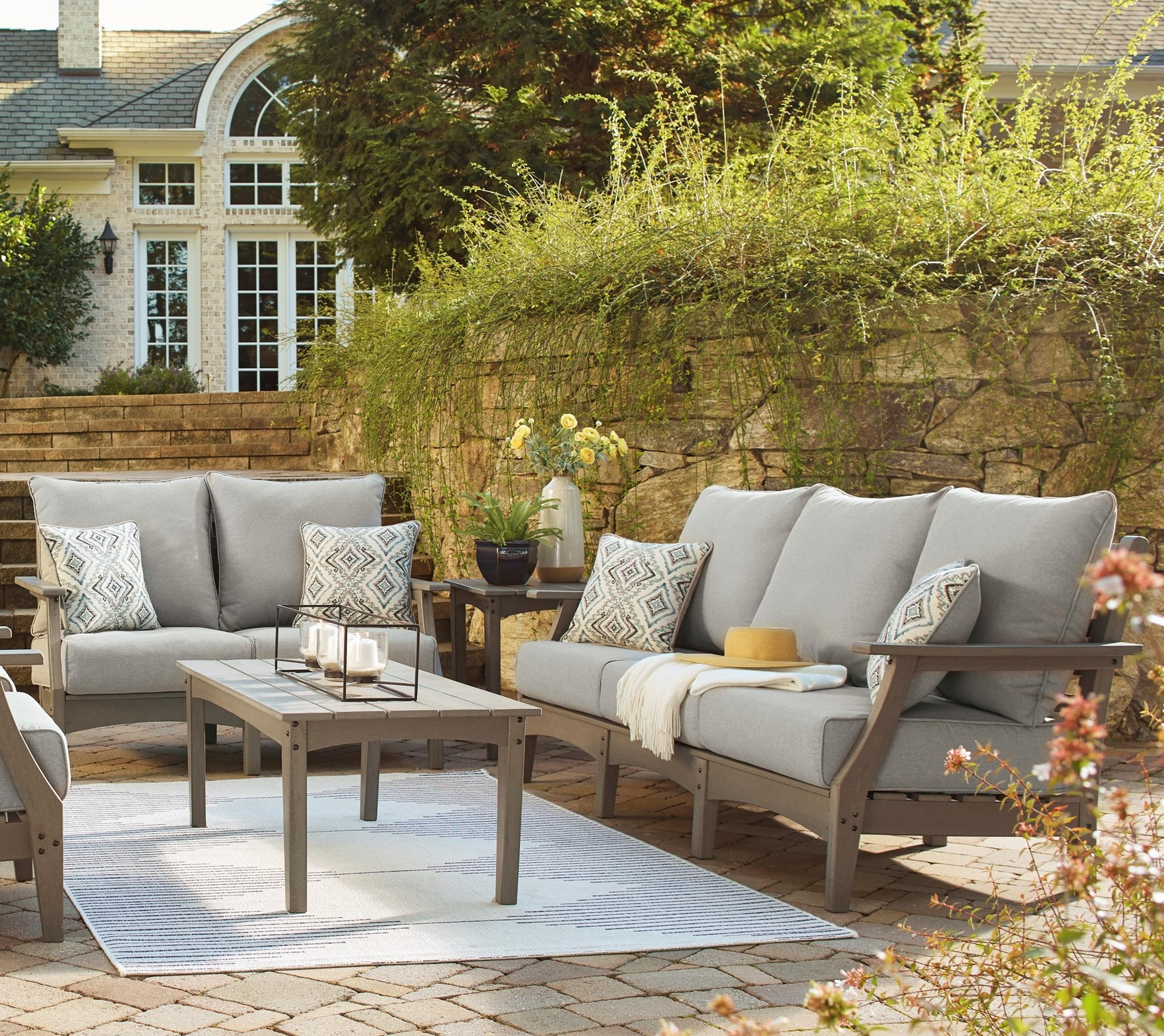 Visola Outdoor Sofa and Loveseat by Signature Design by Ashley at Wayside Furniture