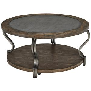 Signature Design by Ashley Volanta Round Cocktail Table