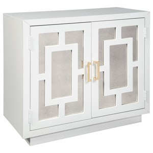 Contemporary Accent Cabinet with Mirror Panels