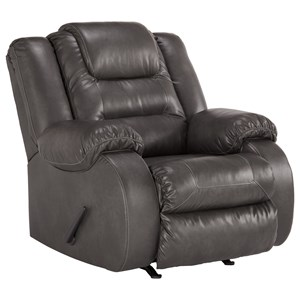 Casual Faux Leather Rocker Recliner
