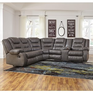 Casual Faux Leather L-Shaped Sectional