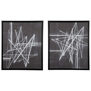 Signature Design by Ashley Wall Art 2-Piece Duena Black/White Wall Art Set