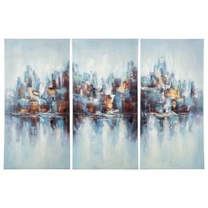 Signature Design by Ashley Wall Art Saide Multi Wall Art Set
