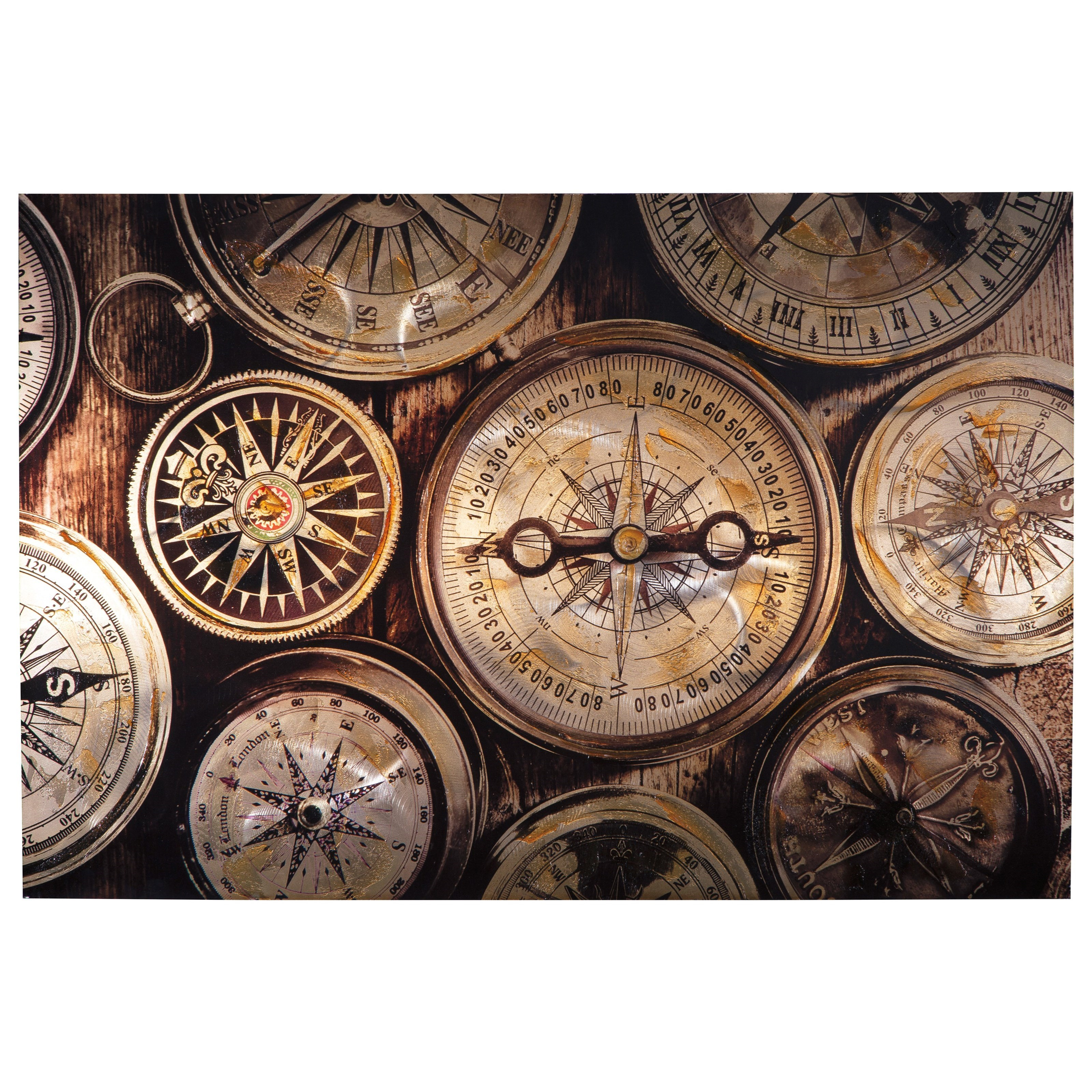 Wall Art Jeaselle Compass Brown/Black Wall Art by Benchcraft at Virginia Furniture Market