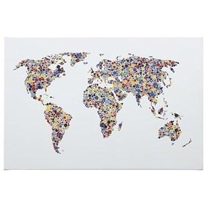 Signature Design by Ashley Wall Art Kayson World Map Wall Art