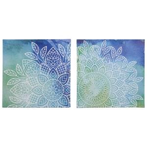 Signature Design by Ashley Wall Art Andrian Blue/Green Wall Art Set