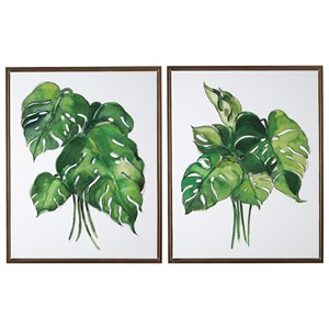 Jakayla Green/White Wall Art Set