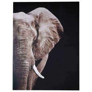 Jendayi Elephant Black/White/Gray Wall Art
