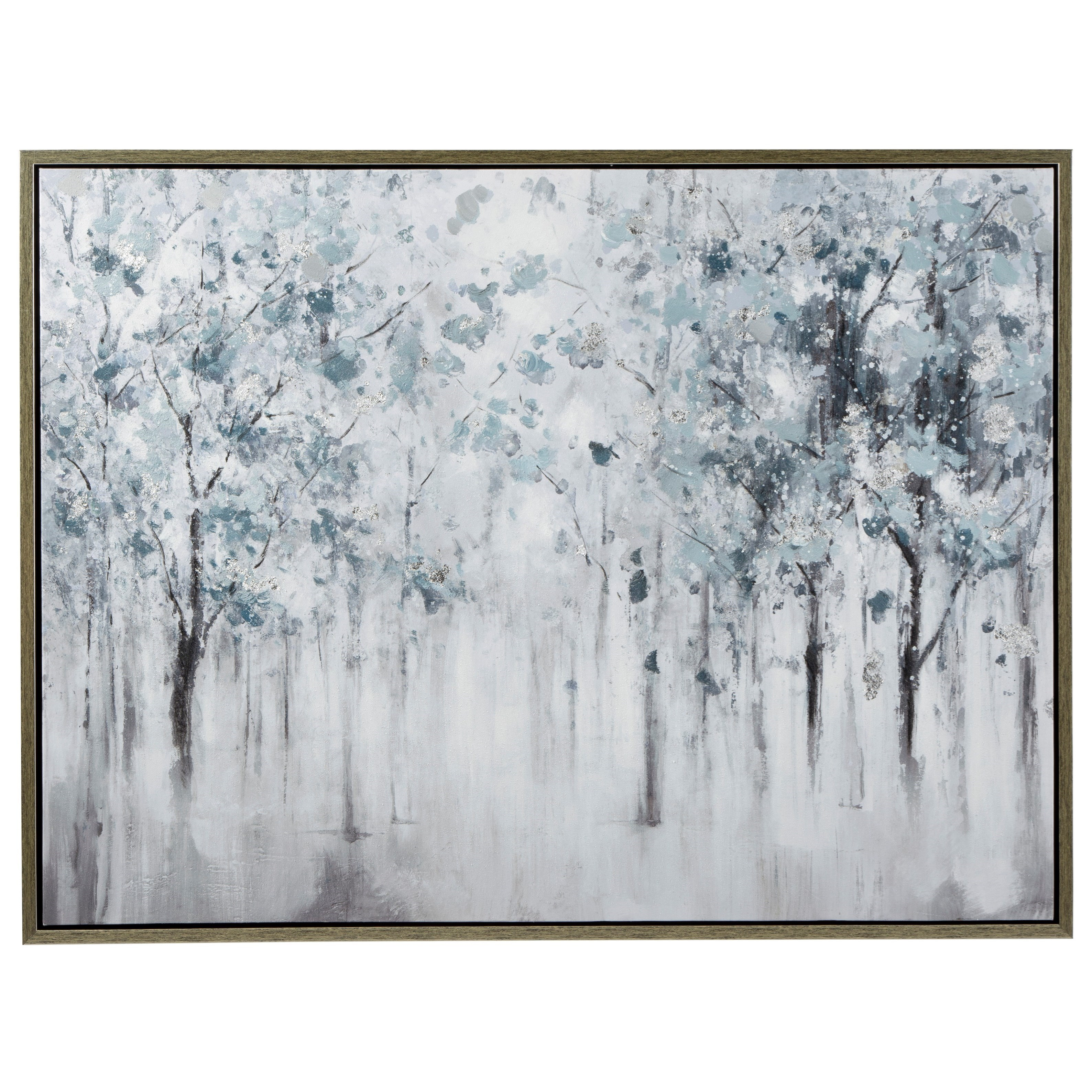 Wall Art Breckin Blue/Gray/White Wall Art by Benchcraft at Virginia Furniture Market