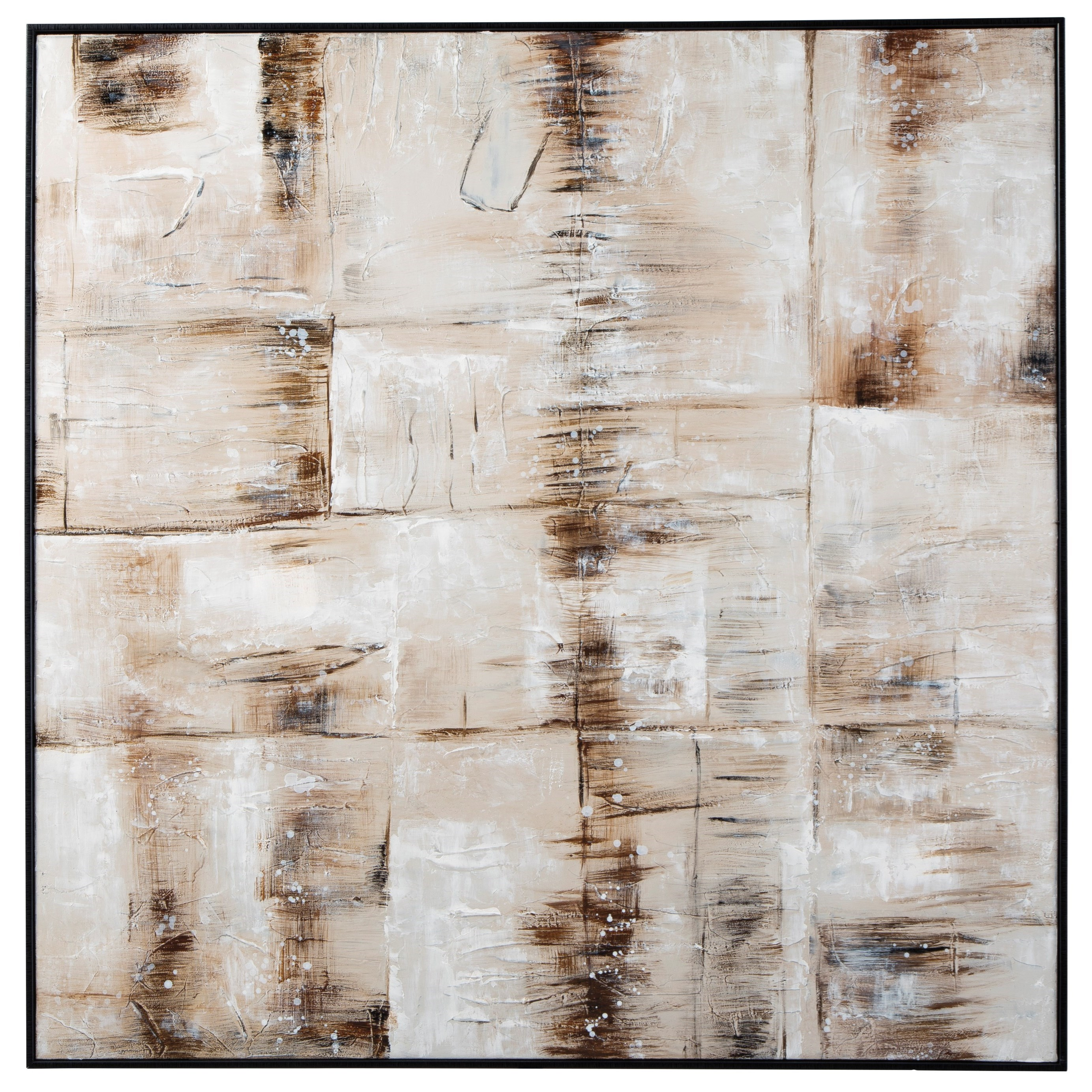 Wall Art Jovia Tan/Brown Wall Art by Signature at Walker's Furniture