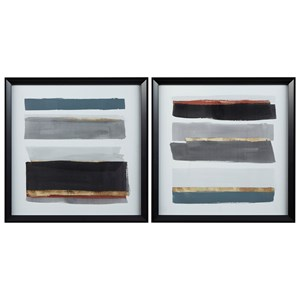 Hallwood Black/White/Gray Wall Art Set