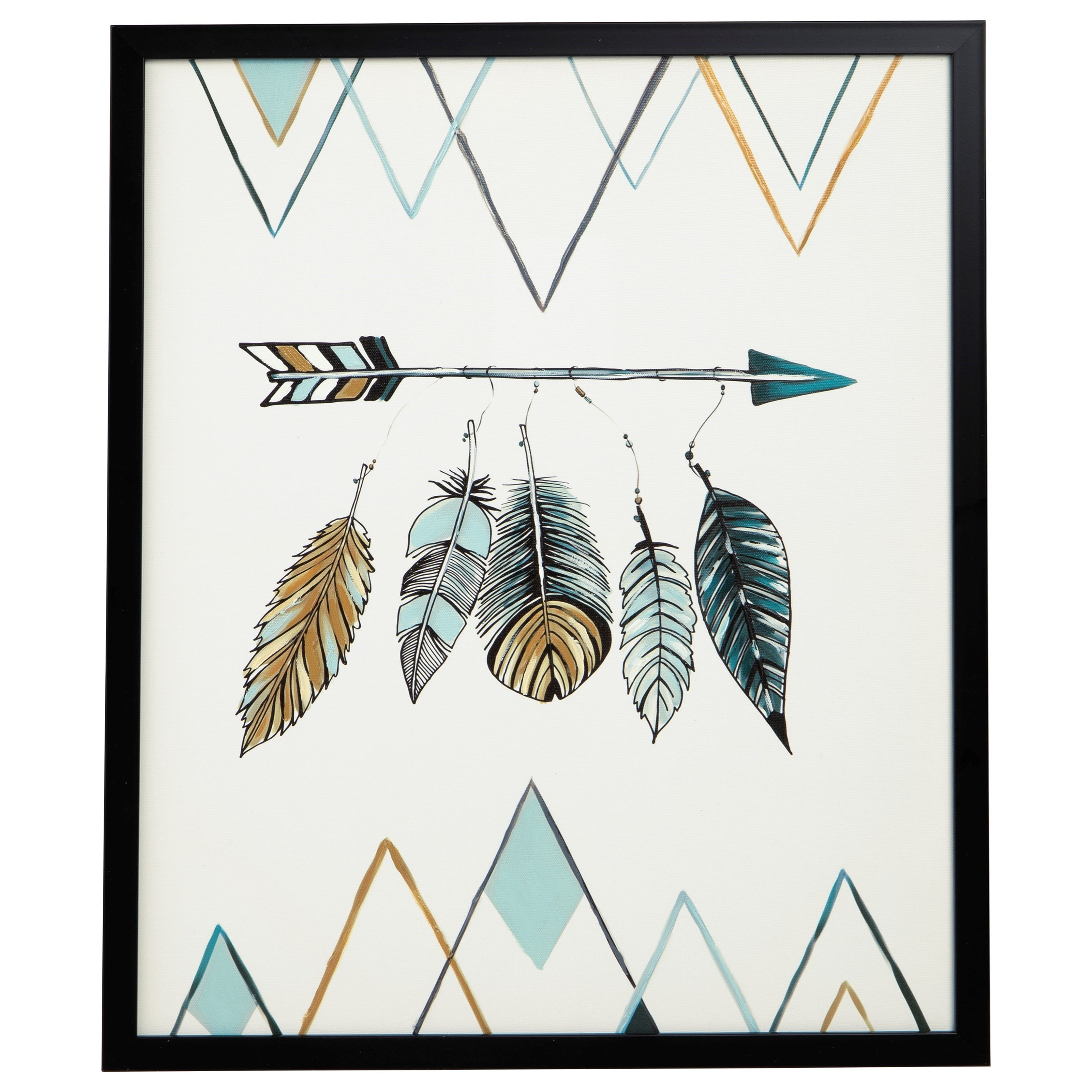 Wall Art Adaley Teal/White/Gray Wall Art by Signature Design by Ashley at Household Furniture