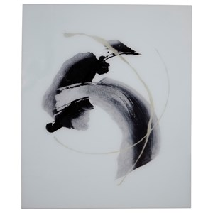 Jenise Black/Silver/Champagne Glass Wall Art