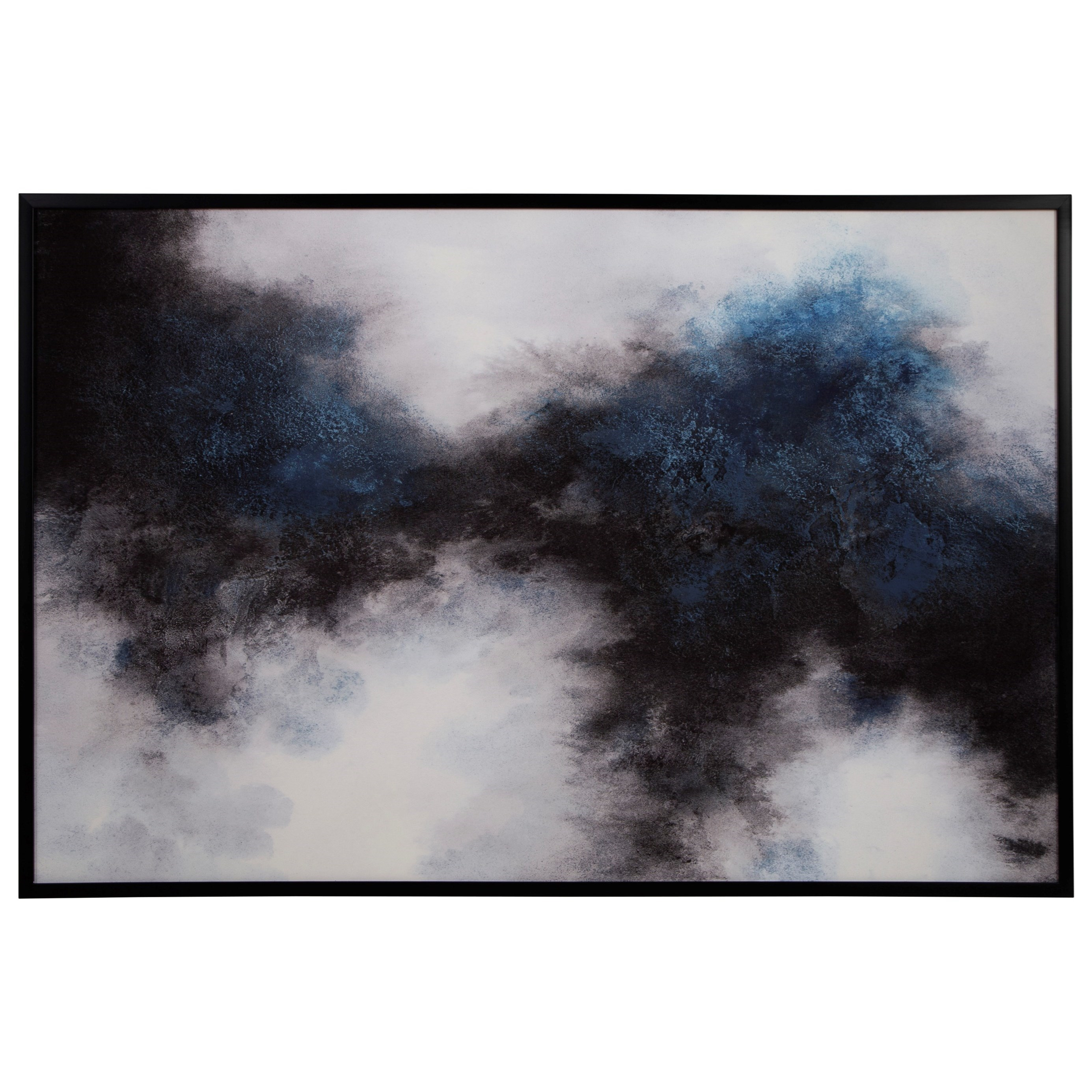 Wall Art Bellecott Black/White/Blue Wall Art by Signature Design by Ashley at Standard Furniture