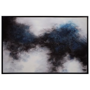 Bellecott Black/White/Blue Wall Art