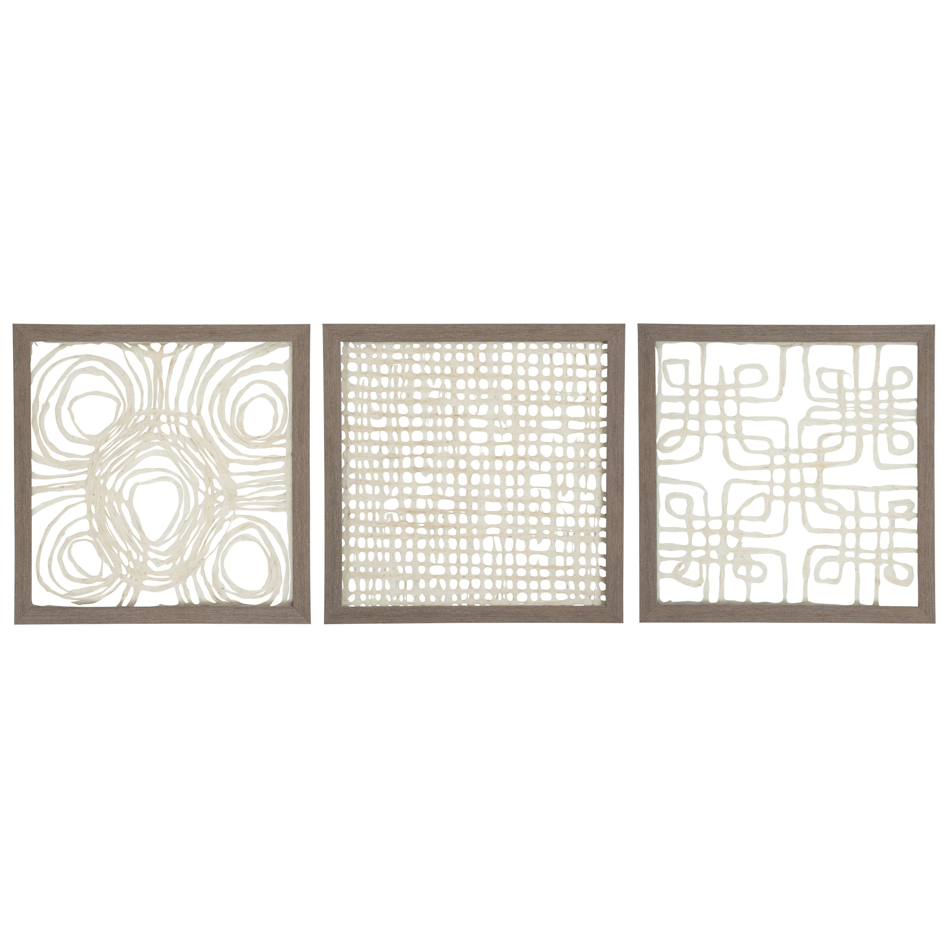 Wall Art 3-Piece Odella Cream/Taupe Wall Decor Set by Signature at Walker's Furniture