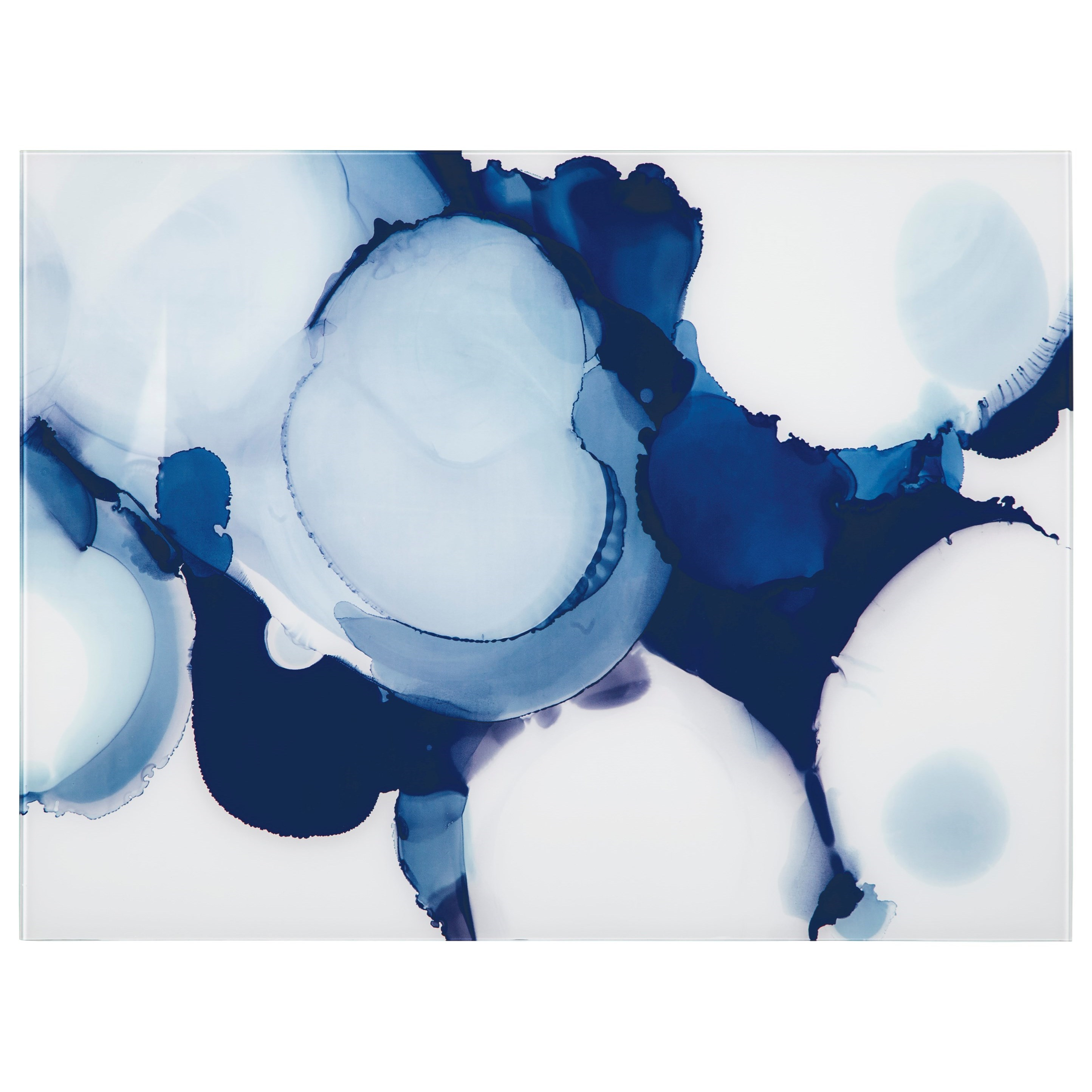 Wall Art Ariadna Blue/White Wall Decor by Signature Design by Ashley at Lapeer Furniture & Mattress Center