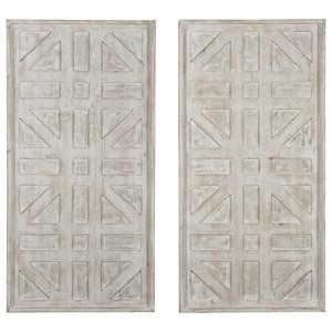 Dubem Antique White Wall Decor Set