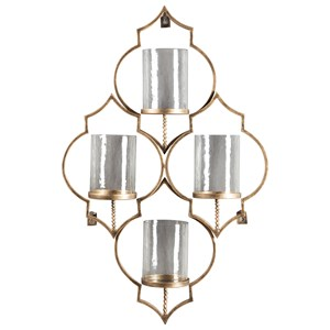 Signature Design by Ashley Wall Art Dunixi Antique Gold Finish Wall Sconce