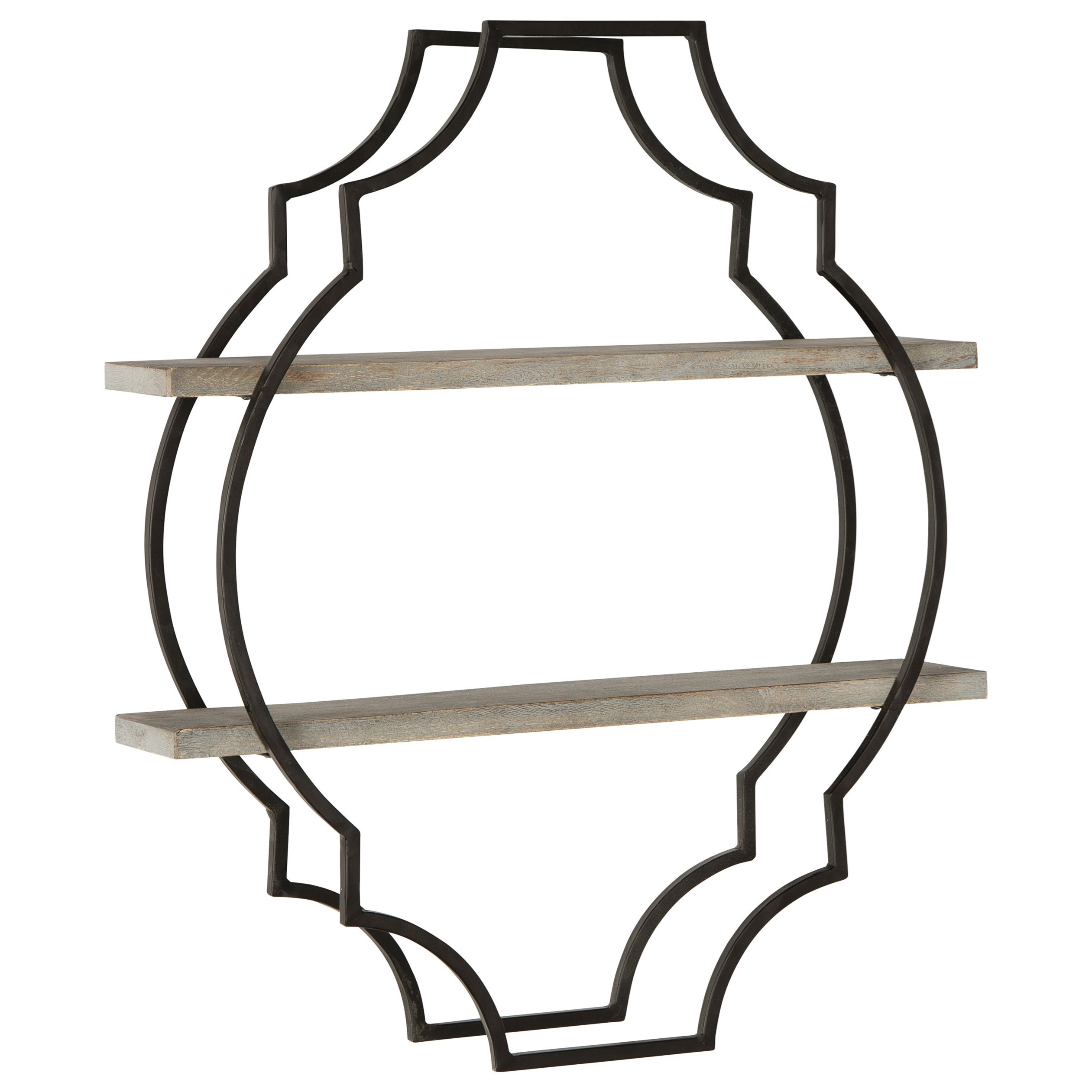 Wall Art Candon Antique Gray/Black Wall Shelf by Ashley (Signature Design) at Johnny Janosik