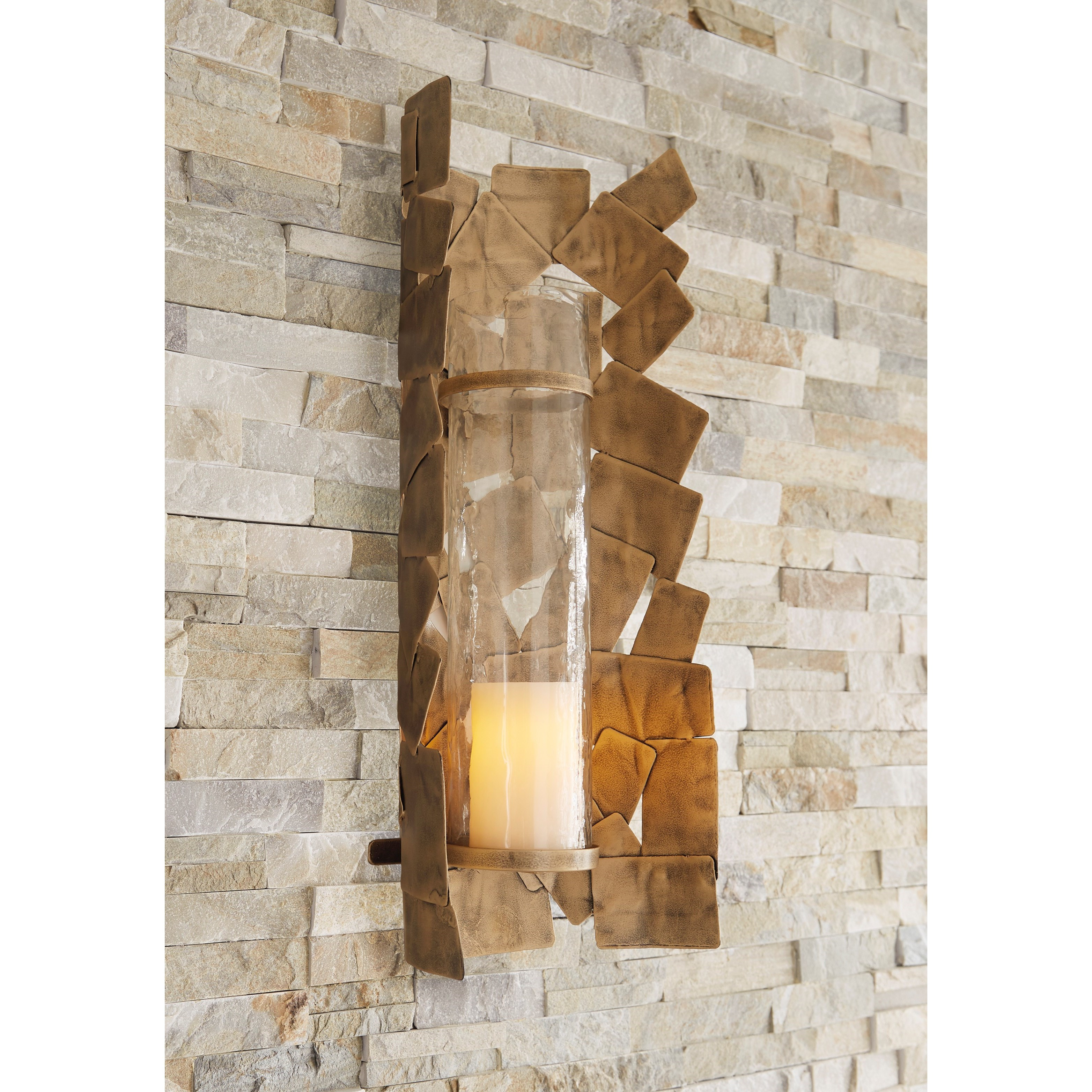 Wall Art Jailene Antique Gold Wall Sconce by Signature Design by Ashley at Sparks HomeStore