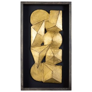 Grantton Antique Gray/Gold Finish Wall Decor