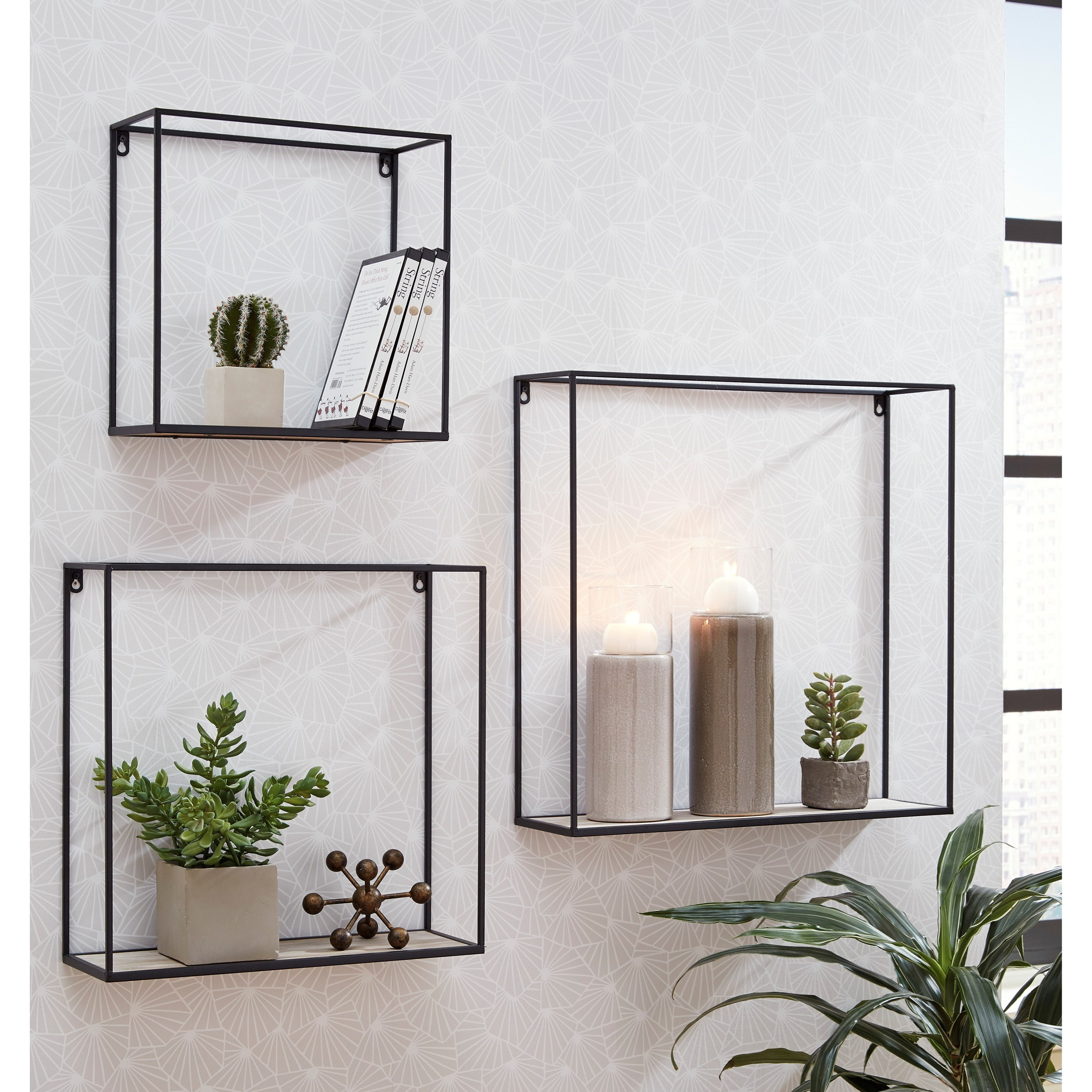 Wall Art Efharis Wall Shelf Set by Signature Design by Ashley at Home Furnishings Direct
