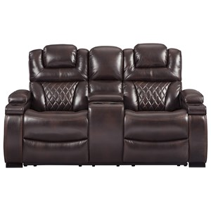 Power Reclining Loveseat with Adjustable Headrest