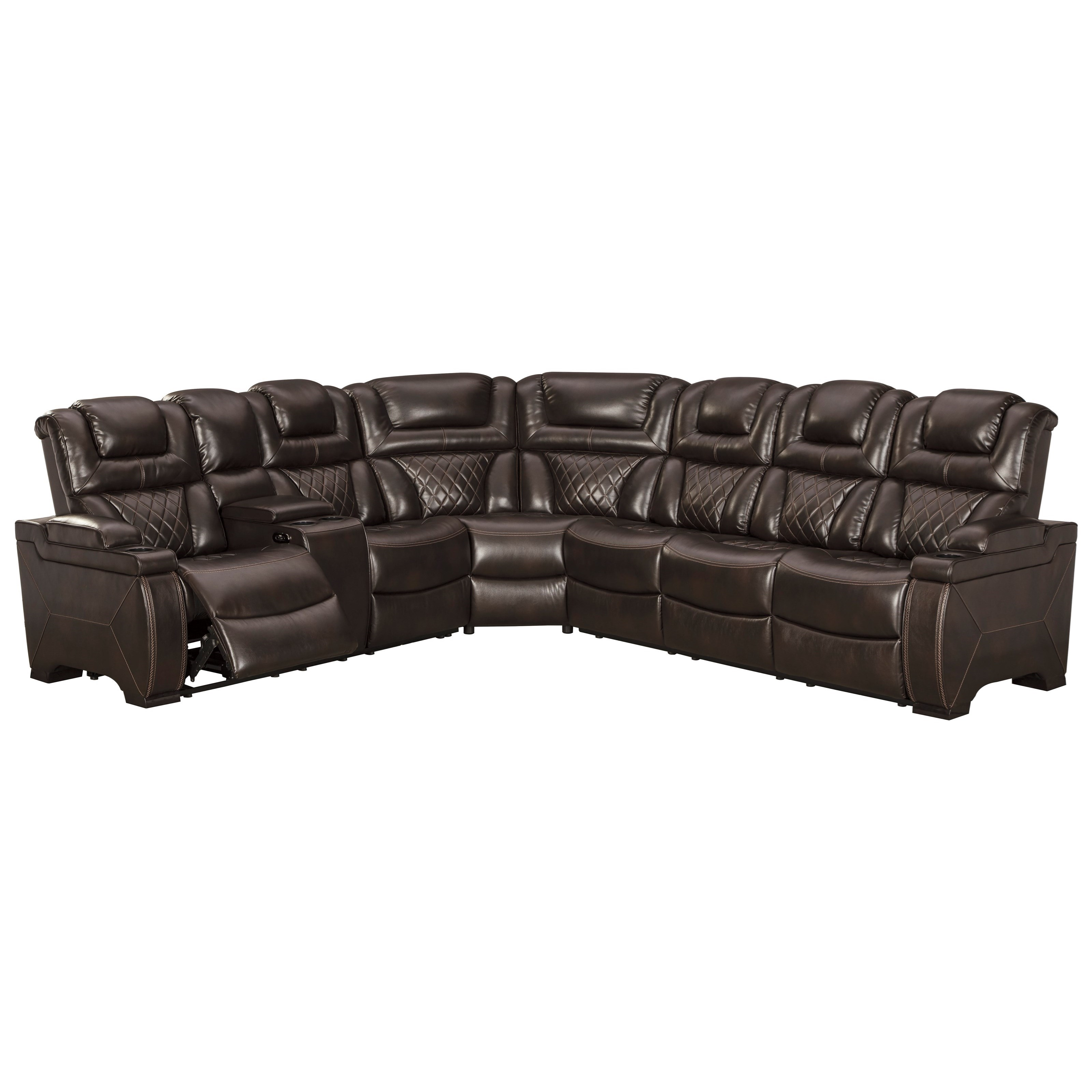 Warnerton Power Reclining Sectional by Signature Design by Ashley at Beck's Furniture