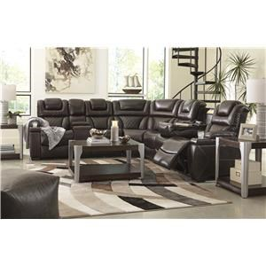 Chocolate 3 PC Power Headrest Sectional and Recliner Set