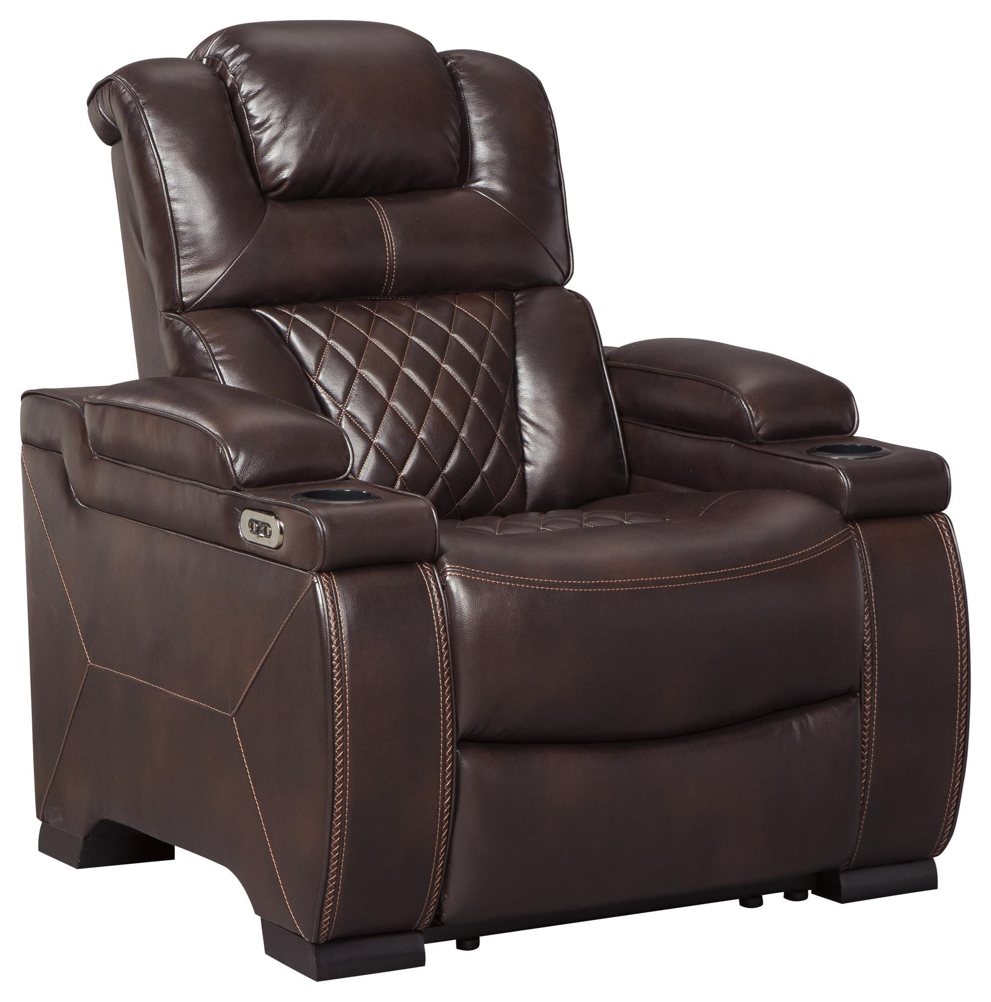 Warnerton 4 Power Recliners with Adjustable Headrest by Signature Design by Ashley at Sam Levitz Furniture
