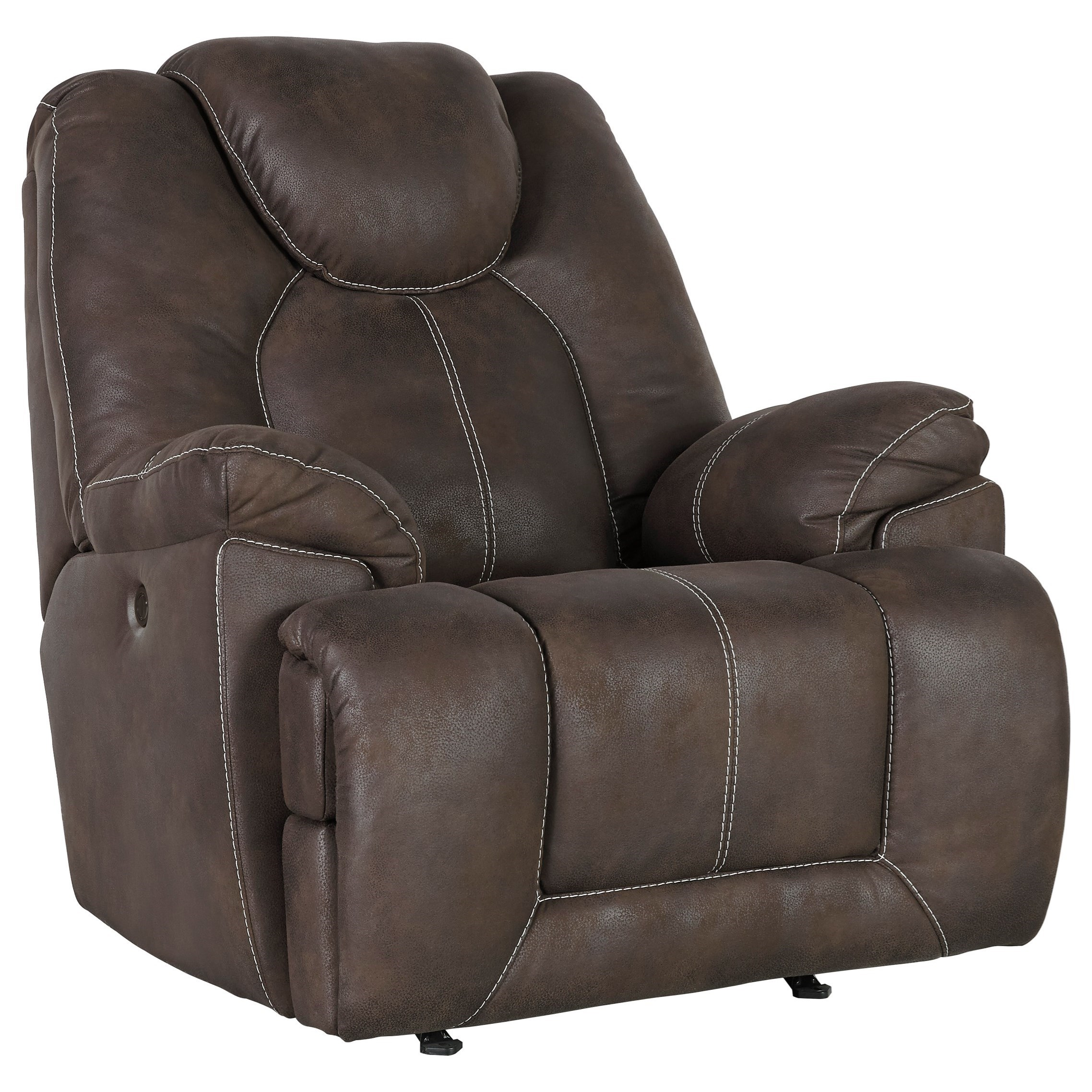 Warrior Fortress Power Rocker Recliner by Signature Design by Ashley at Beck's Furniture