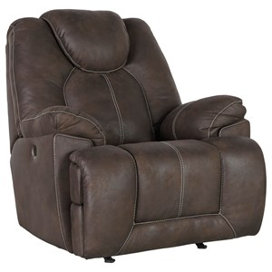 Faux Leather Power Rocker Recliner with USB Charging