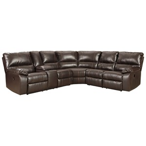 Casual 3 Piece Power Reclining Sectional