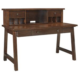 Signature Design by Ashley Wassner Home Office Large Leg Desk & Desk Hutch
