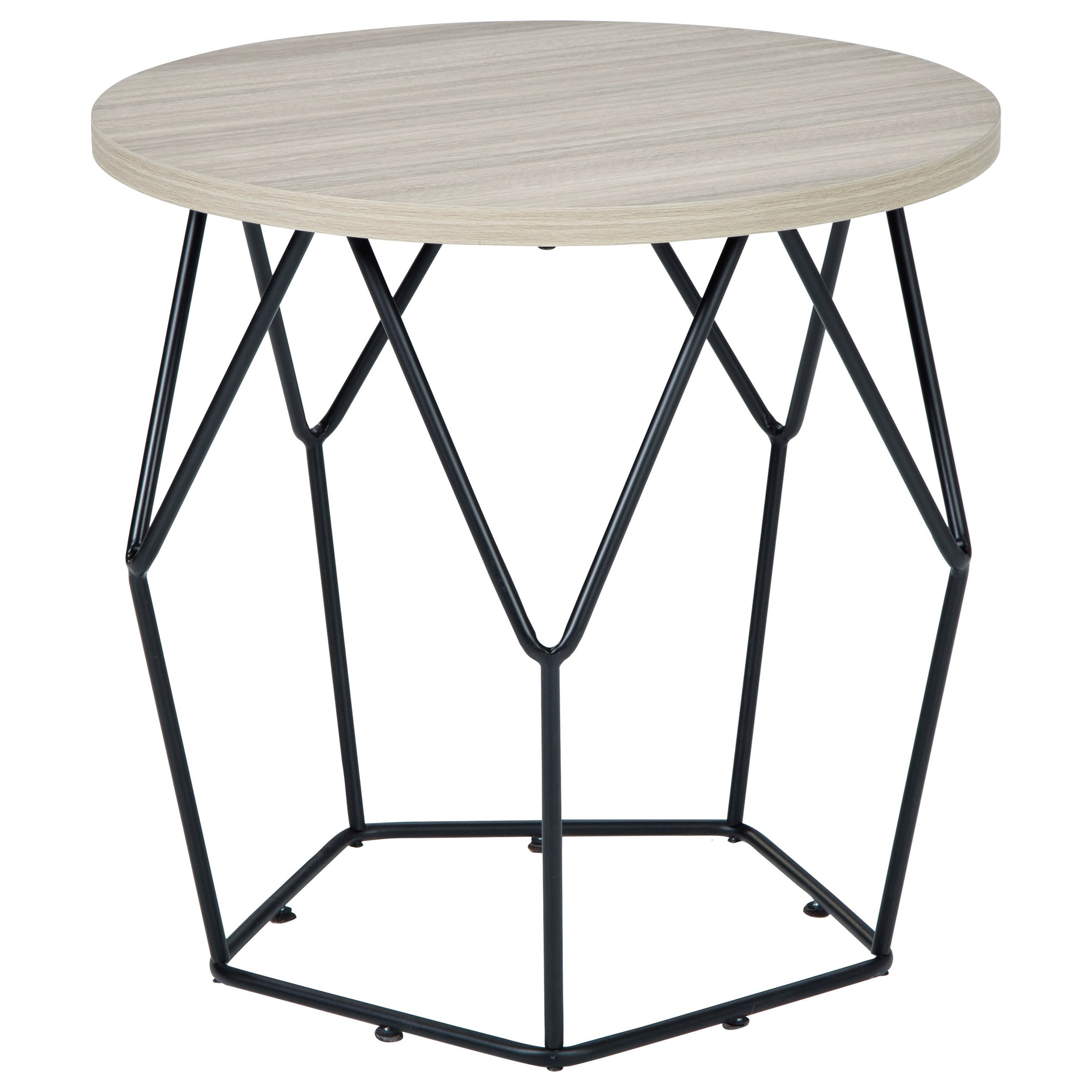 Waylowe Round End Table by Signature Design by Ashley at Rife's Home Furniture