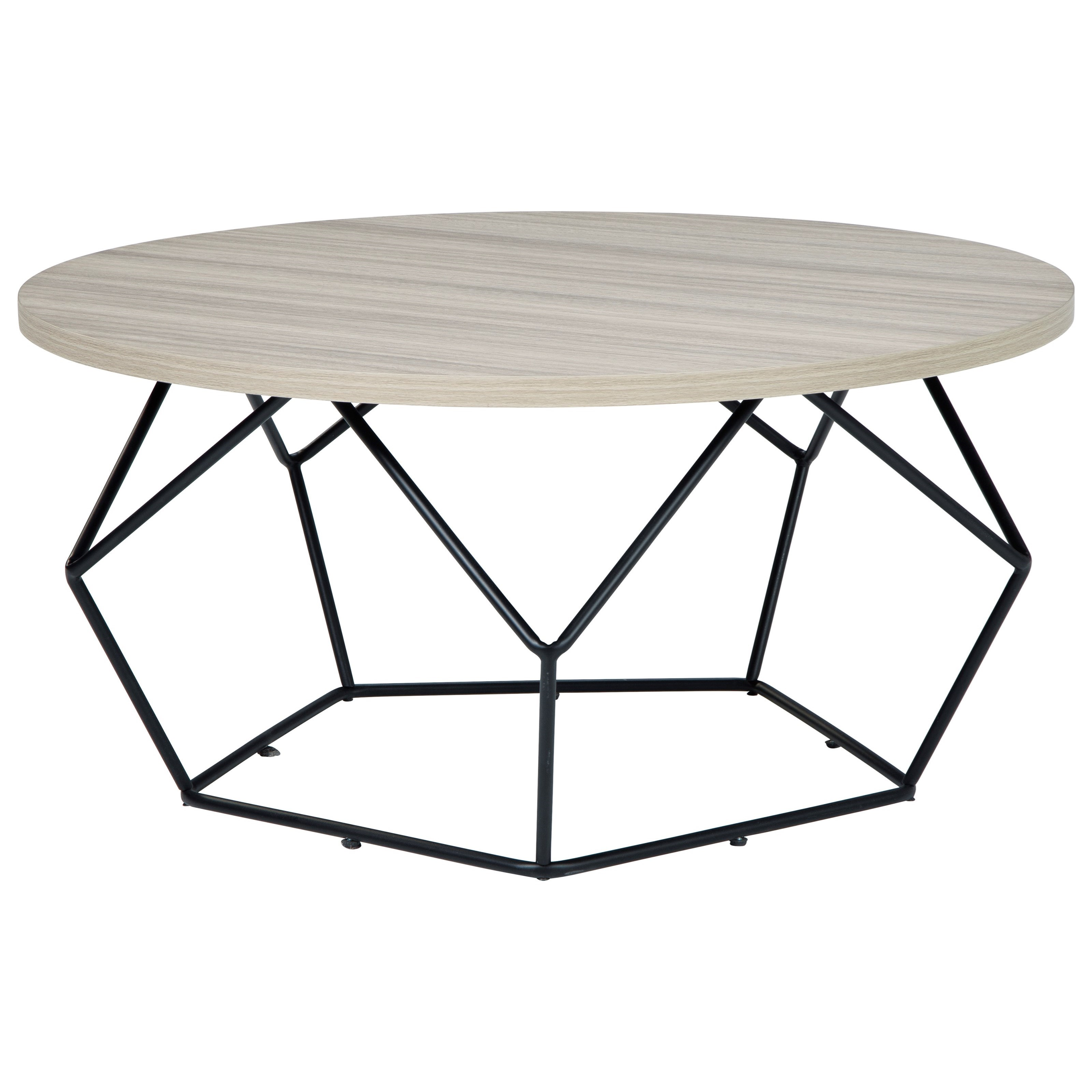 Waylowe Round Cocktail Table by Signature Design by Ashley at Zak's Warehouse Clearance Center