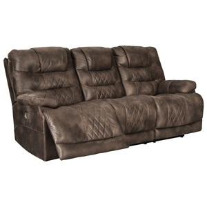 Power Reclining Sofa with Adjustable Headrest and USP Port