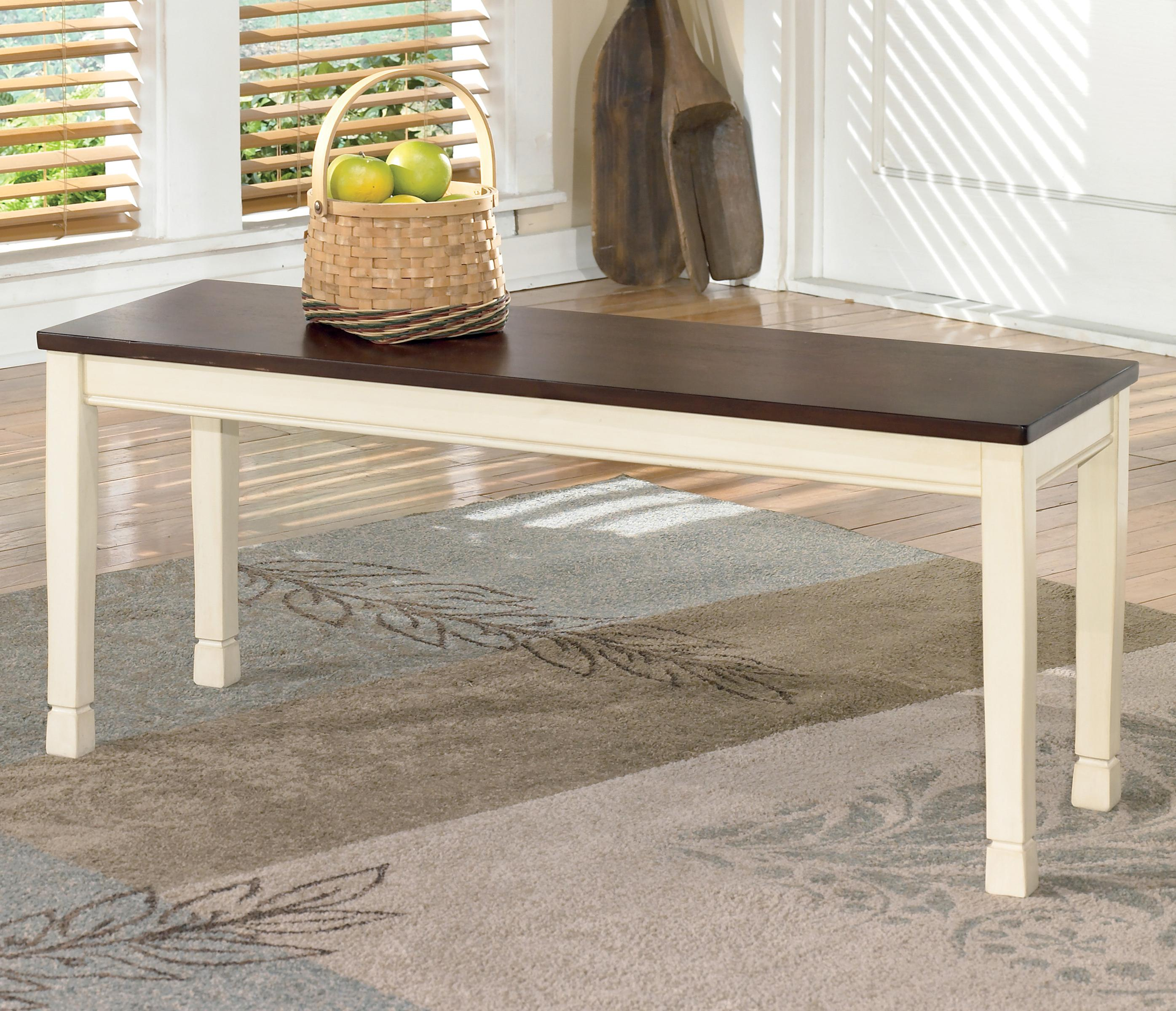 Whitesburg Large Dining Room Bench by Signature Design by Ashley at Catalog Outlet