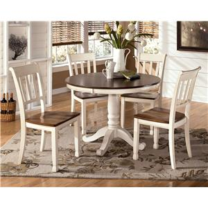 5-Piece Two-Tone Cottage Round Table Set