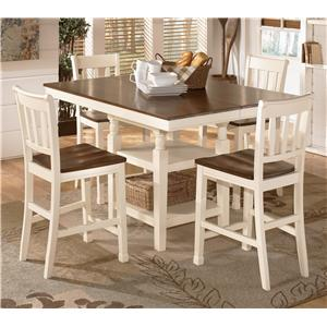 Signature Design by Ashley Whitesburg 5-Piece Counter Extension Table Set