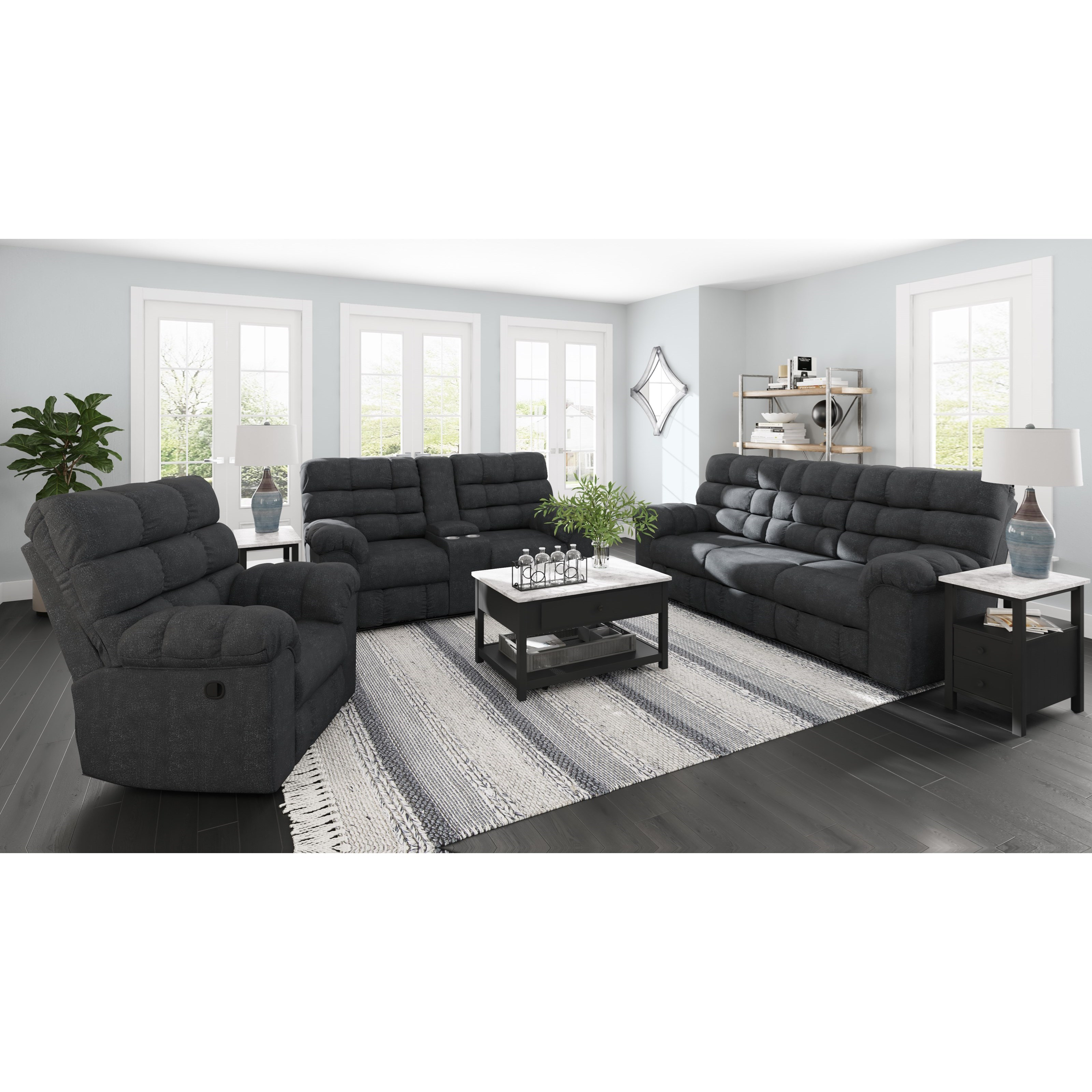Wilhurst Reclining Living Room Group by Benchcraft at Virginia Furniture Market