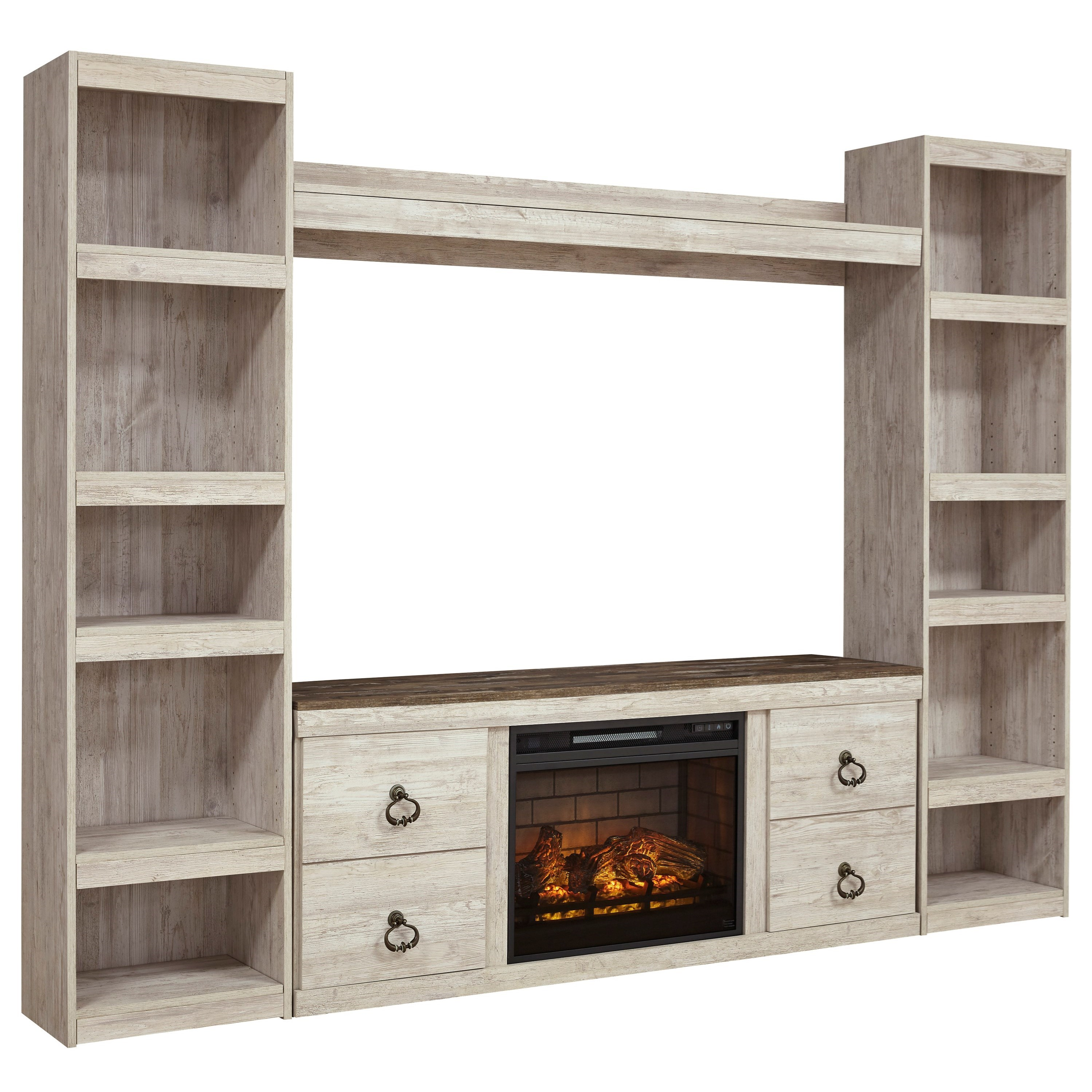 Willowton Entertainment Wall Unit by Signature Design by Ashley at Smart Buy Furniture