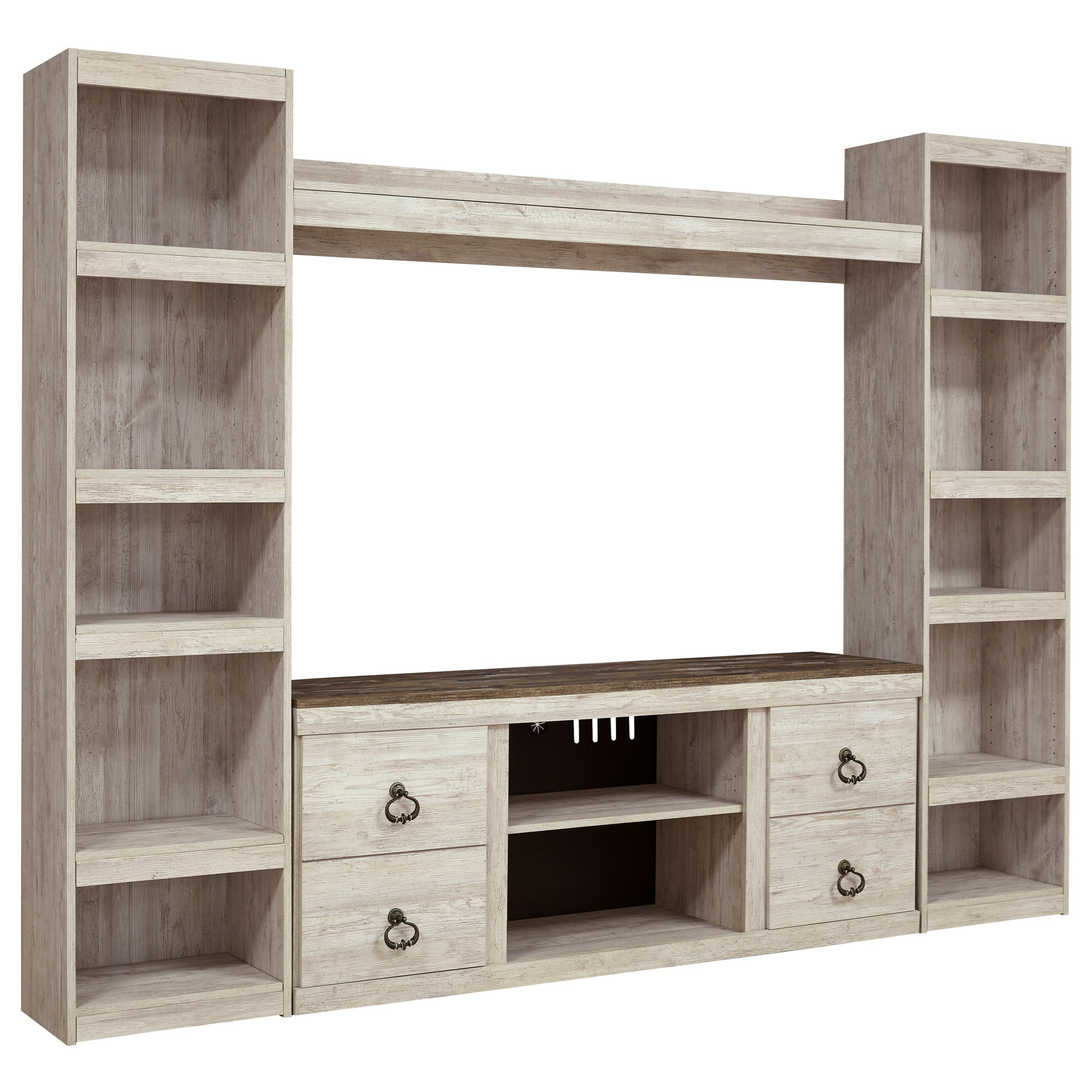 Willowton Entertainment Wall Unit by Ashley (Signature Design) at Johnny Janosik