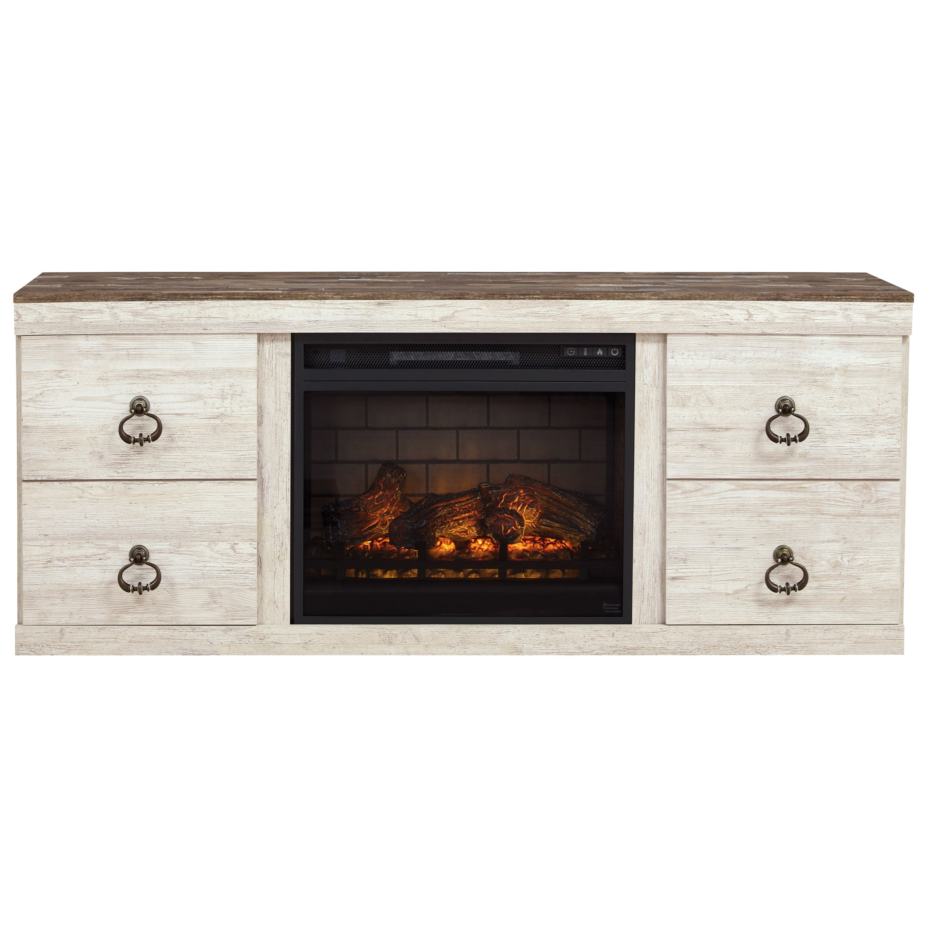 Willowton Fireplace Console by Signature Design by Ashley at Northeast Factory Direct