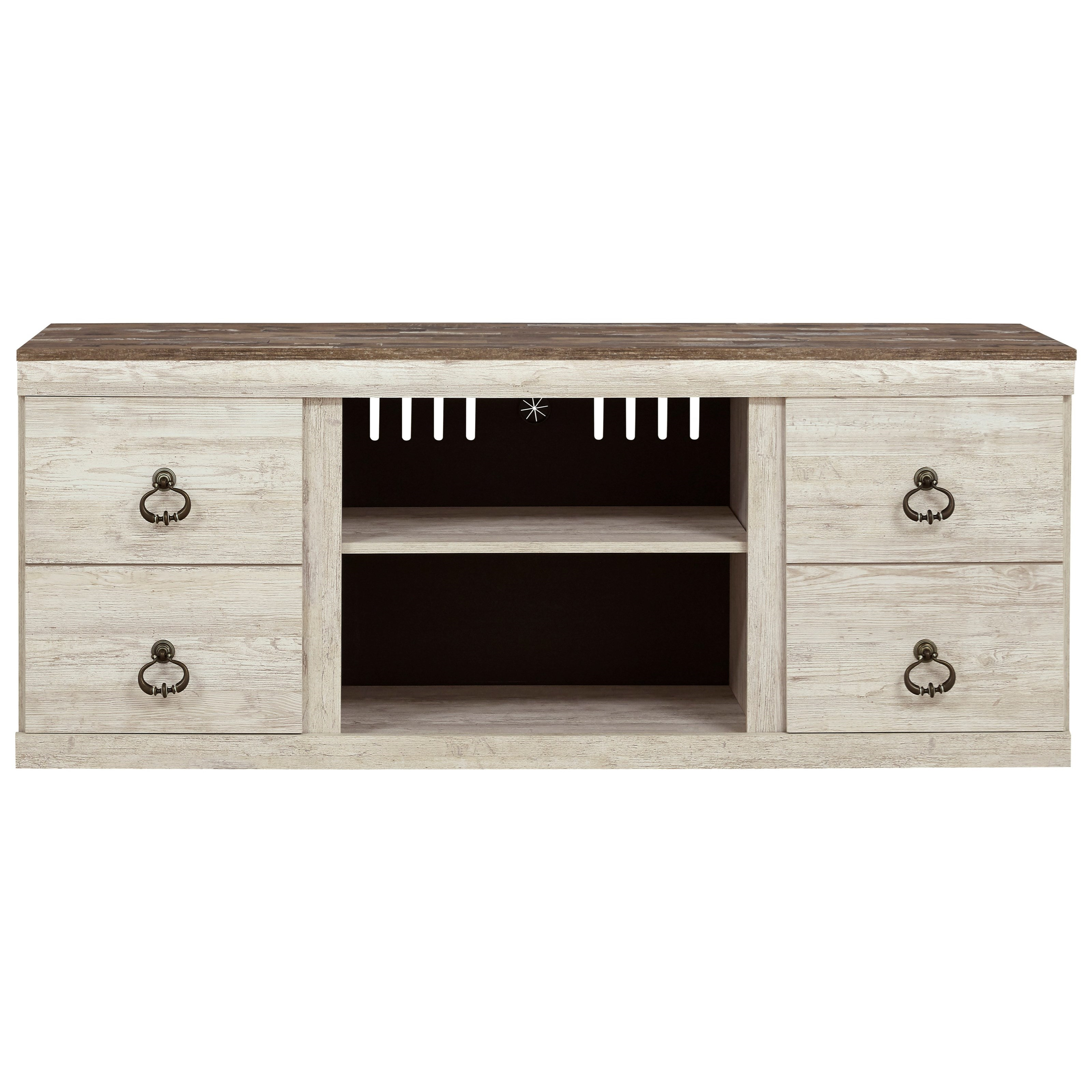 Willowton Large TV Stand by Signature Design by Ashley at Beds N Stuff