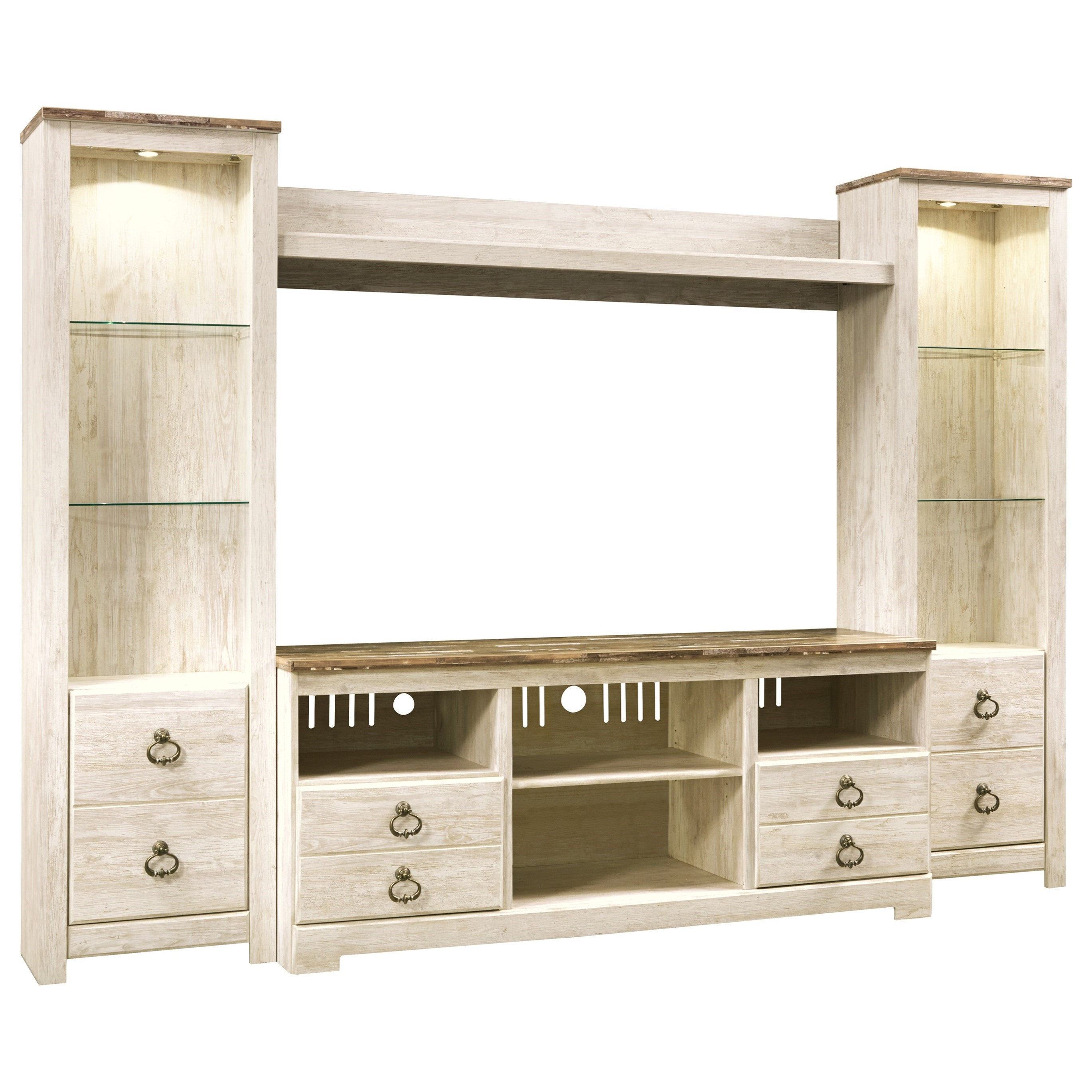Willowton Entertainment Center by Signature Design by Ashley at HomeWorld Furniture