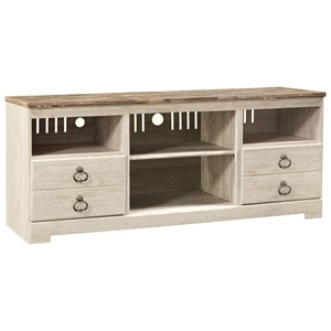Two-Tone Large TV Stand